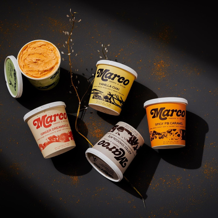 Marco Sweets & Spices, Coloured Backdrops